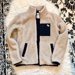 Abercrombie Kids Fleece Lined Sherpa Jacket